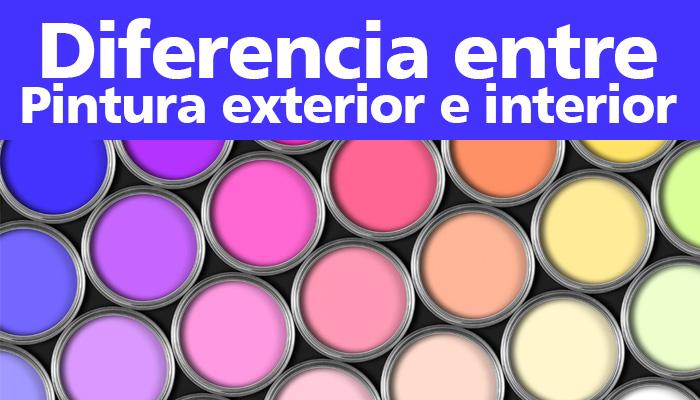 diferencias entre pintura interior y exterior