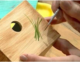 pintando madera