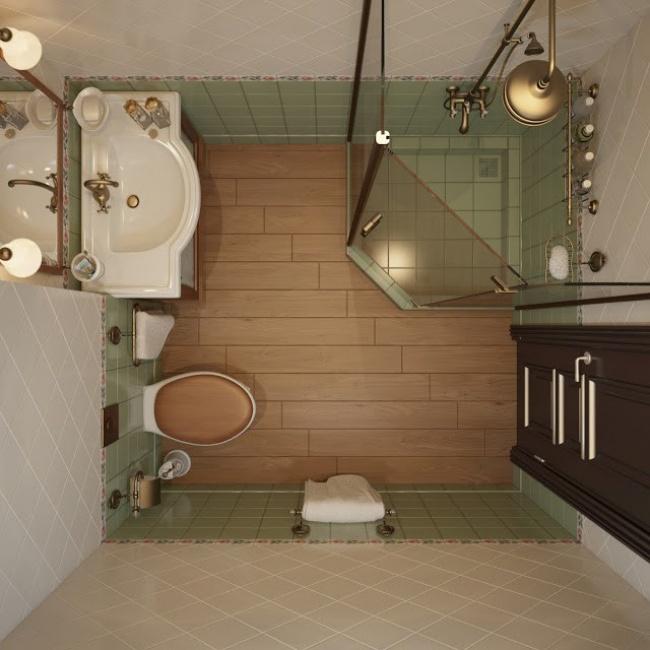 baño pequeño visto desde arriba