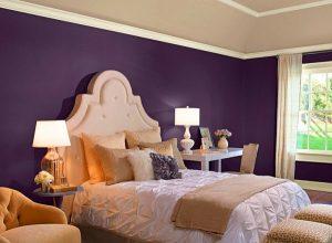 dormitorio color violeta