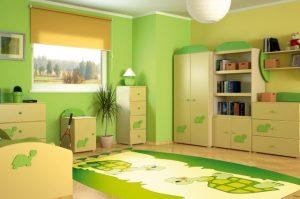 cuarto verde de niños