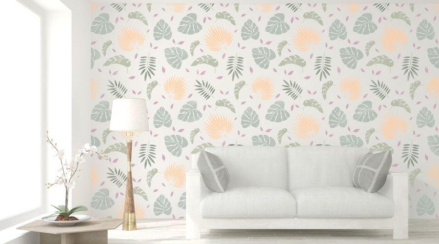 sala pintada con plantillas