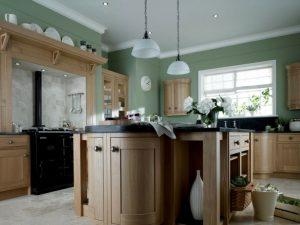 cocina color verde neutro