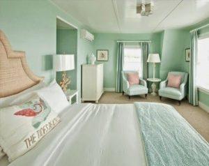 dormitorio color verde menta