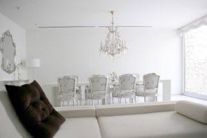 sala comedor color blanco marfil