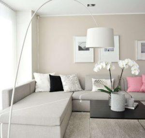 sala de estar blanco cálido