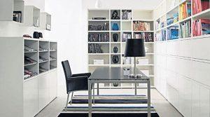 cuarto de estudio color blanco