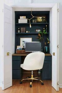 cuarto de estudio en armario