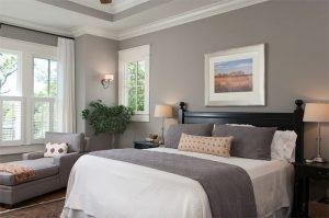 habitación color gris cálido