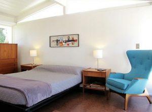 dormitorio estilo moderno de mediados de siglo