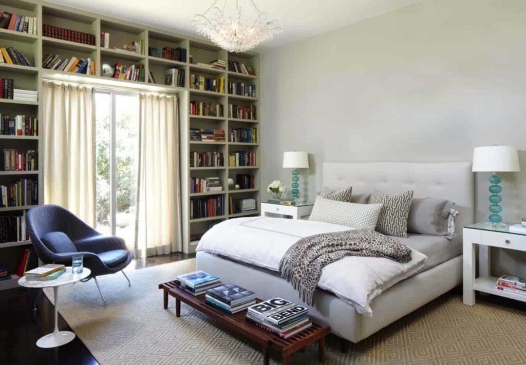dormitorio neutro estilo mediados de siglo