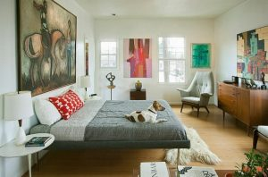 dormitorios con muebles estilo mediados de siglo
