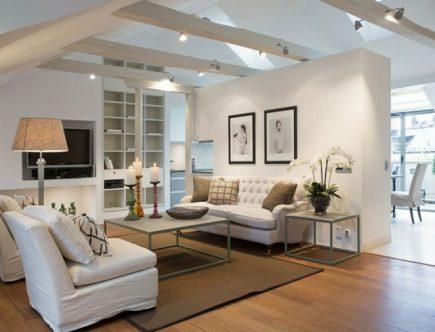 salón moderno color blanco