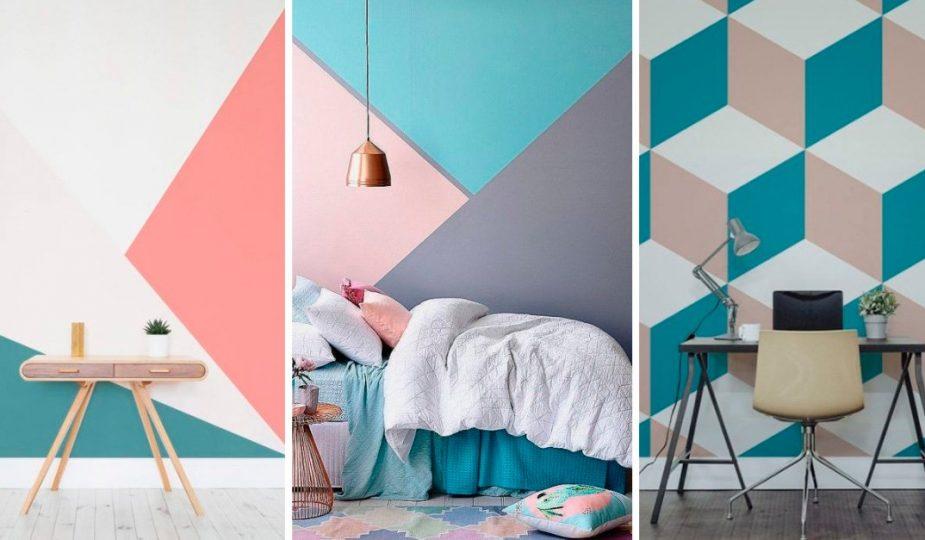 diferentes diseños de color en pared