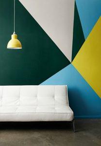 pared con diferentes colores