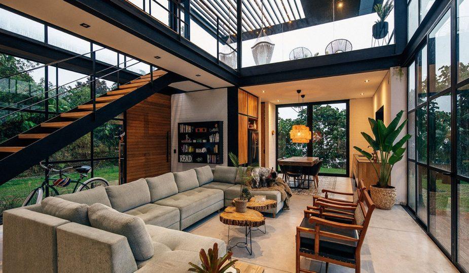 sala de estar con diseño contemporáneo